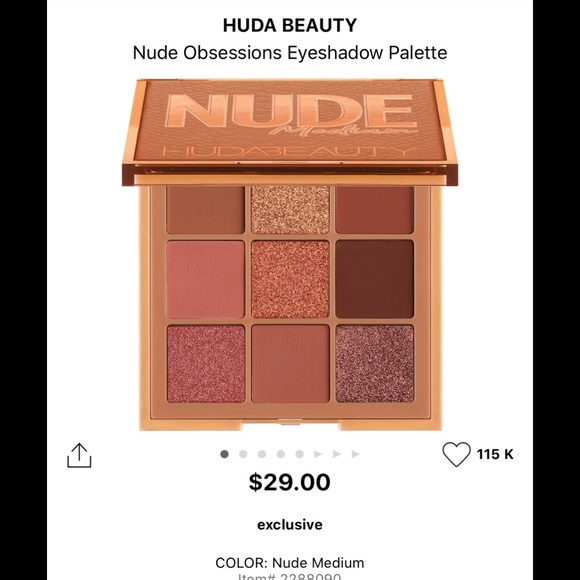 HUDA BEAUTY Other - HUDA BEAUTY NUDE OBSESSIONS EYESHADOW PALETTE 🎨